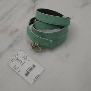 🆕J. Crew Women's Light Green Leather Belt